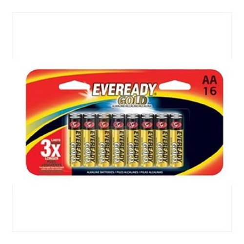 Eveready Gold Alkaline Batteries AA, In Family Pack, (Aaa Alkaline Family Pack)