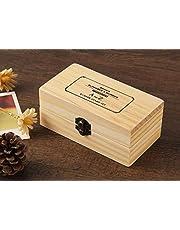 DELFINO Wooden Typeface 24 Letters + 9 Digital Seals with a Wooden Box Alphabet Letter Number Symbol Set Stamper Seal Set Lower Case Letter Vintage Box