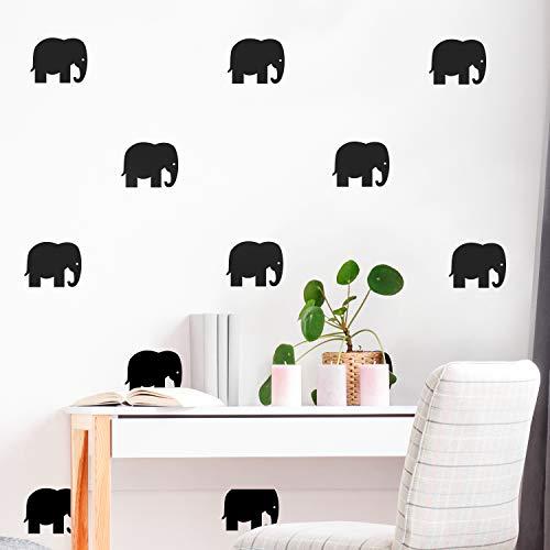 Elephant Decal Set - Set of 12 Vinyl Wall Art Decals - Elephants - 4