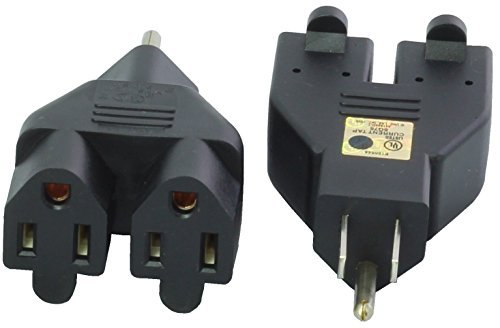 Cordtec Power Corp N.A 3 Prong Regular Household Heavy Duty Dual Outlets Adapter [並行輸入品]   B073Z8QRY6