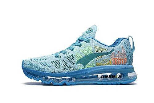 Onemix Women's Lightweight Air Cushion Outdoor Sport running Shoe, Light Blue, Women 7(M)US/Men 5.5(M)US 38EU