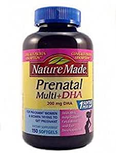 Nature Made Prenatal Multi+dha 200 Mg Dha for Women 12 Months Prior to Childbirth: 150 Softgels