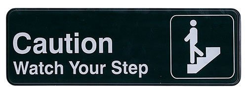 "Update International (S39-29BK) ""Caution Watch Your Step"" Sign"
