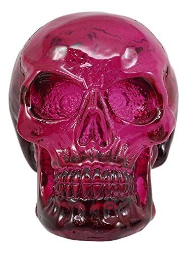 Ebros Purple Translucent Witching Hour Gazing Skull Miniature Figurine 2.5