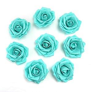 fake flowers heads Artificial PE Foam Roses Flowers for Home Wedding Decoration Scrapbooking Handmade Kissing Balls 20pcs 7cm 3