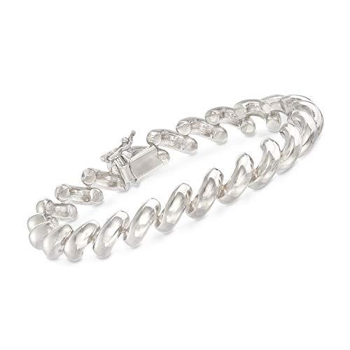 Ross-Simons Italian Sterling Silver San Marco Link Bracelet (Marco Silver Jewelry San)