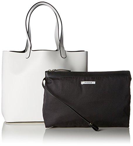 Shopper White 10x35x40 Blanc x Sacs cm portés T épaule Pcdeedee femme Pieces H Bright B F8qz5Y5
