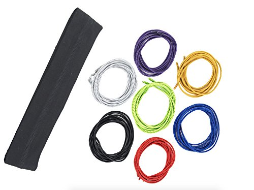 Athletic Headband & Elastic Shoelace Set - Comfort for Running, Triathlon, Traveling, Hiking. Eco-Friendly, Sweat Wicking, Super Soft Headband Keeps You Dry, Stretchy Laces Look Cute in 7 - Triathlon Clothing Lululemon