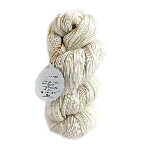 - 100% Superwash Extrafine Merino 1 PLY Lace Weight Natural Undyed Hand Knitting Wool Yarn for Fashion Garments Baby Clothes (1)