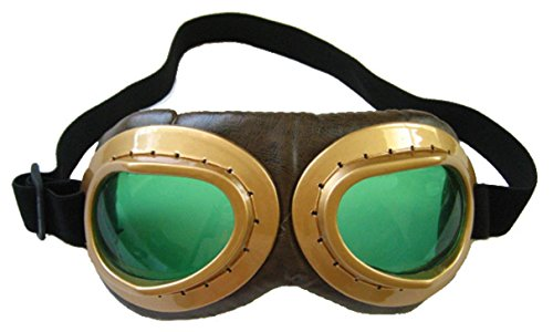 elope Aviator Goggles, Brown/Green, One Size - The Aviator Costumes