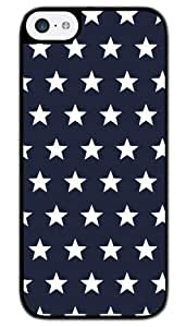 MI.YOO Dark Blue And white Stars Hard Plastic Back Case Cover Phone Protective Case for iPhone 5C
