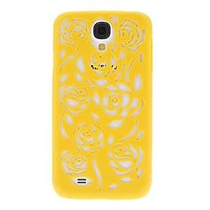 conseguir Flor estuche rígido patrón hueco para Samsung Galaxy S4 i9500 (colores surtidos) , Rosa