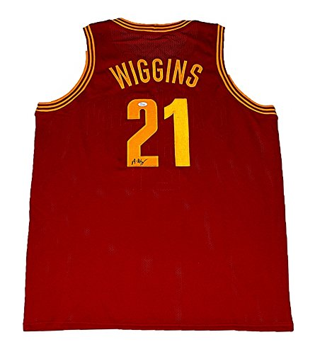 - AUTOGRAPHED 2014 Andrew Wiggins #21 Cleveland Cavaliers Basketball (1st Overall Draft Pick) NBA Rookie Jersey with JSA COA