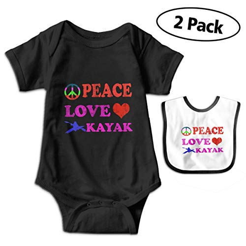 Peace Love Kayak Unisex Baby Cotton Short Sleeve Bodysuits for sale  Delivered anywhere in Canada