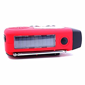JahyShow US Ship Emergency Solar Hand Crank Dynamo AM/FM/WB Weather Radio LED Flashlight Charger