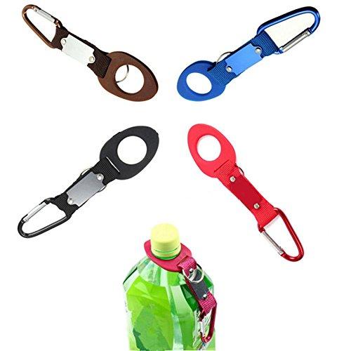 MIJORA-Outdoor Camping Water Bottle Holder Buckle Clip Hiking Carabiner Travel