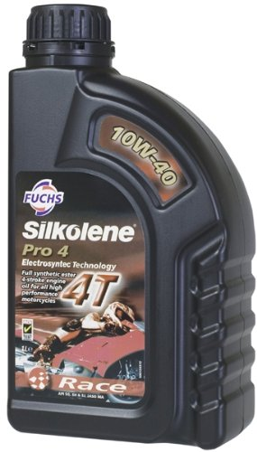 Fuchs Silkolene Pro 4 10W-40 Fully Synthetic 4 Stroke High Performance Motorcycle Race and Road Engine Oil - 1 Litre 500245741 tr-430243