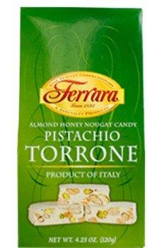 Ferrara - Italian Pistachio Torrone (Almond Honey Nougat Candy), (2)- 4.23 oz. Boxes