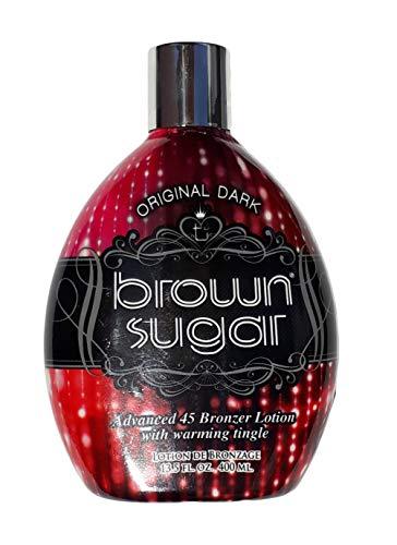 Tan Incorporated - Brown Sugar ORIGINAL DARK Advanced 45 Bronzer with Warming Tingle Tanning Lotion 13.5 ()