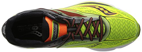 Saucony Mens Cortana 4 Chaussure De Course Citron / Orange / Noir