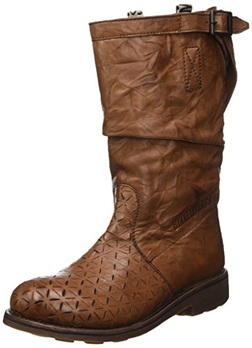 Low Scarpe Vintage M Donna 255 cognac Leather top Bikkembergs Effect origami Beige boot W B1pcxa
