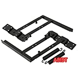 ASIBT 2PCS Coffee Table Mechanism Furniture Spring Hinge Hardware Fitting Stand Rack Bracket Lift Up 6 Inch