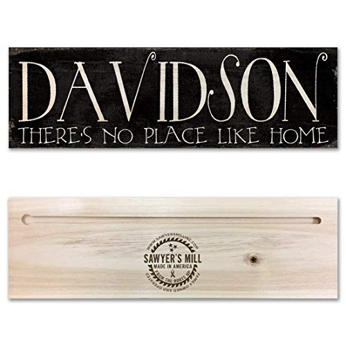 - Personalized Family Name Wood Sign - Custom Made Rustic Real Wood Sign - Wedding Gift