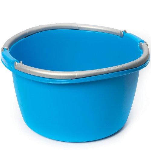 Stefanplast-Italy Waschschüssel 40cm 16 Liter, aufklappbare Tragegriffe: Campingschüssel Spülschüssel Spüle Plastikschüssel Schüssel Eimer