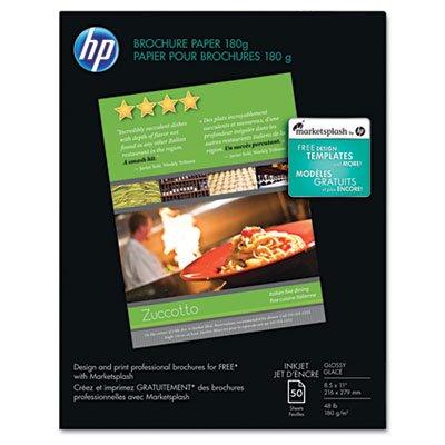 r Paper, 98 Brightness, 48lb, 8-1/2 x 11, White, 50 Shts/Pk, Sold as 50 Sheet (50 Glossy Brochure Sheets)
