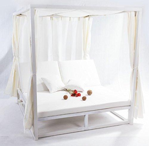 Cama balinesa cortinas aluminio blanco: Amazon.es: Jardín