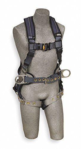 Fall Protection Body Belt (3M DBI-SALA ExoFit XP 1110176,Back D-Ring, Belt with Pad and Side D-Rings, Tongue Buckle Leg Straps, Removable Comfort Padding,Blue, Medium)