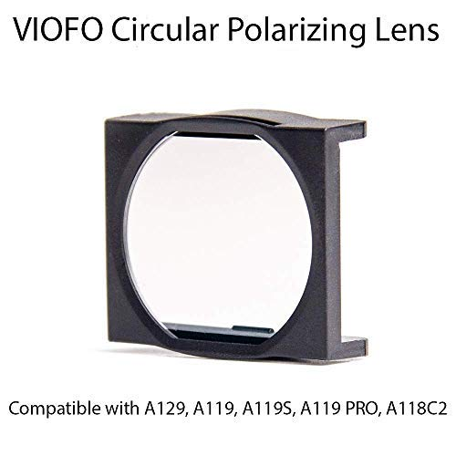 VIOFO Circular Polarizing Lens (CPL), Updated Model Compatible with A129, A119 V2 and V3, A119S, A119 PRO, A118C2 by VIOFO
