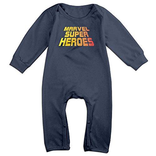 M- Super Heroes Baby Onesie Bodysuit Infant Romper Navy 18 (Superhero Ring Bearer)