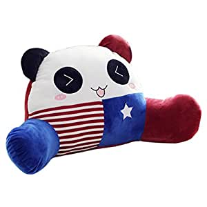 mlotus cute panda child bedrest lounger plush bed rest pillows with arms reading. Black Bedroom Furniture Sets. Home Design Ideas