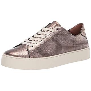 FRYE Women's Lena Low LACE Sneaker, golden silver, 7 M US