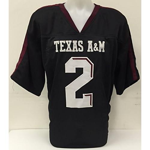 low-cost Johnny Manziel Signed Custom Black College Football Jersey Johnny  Football JSA 6e1767a01