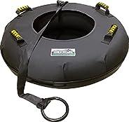 Berelin Snow Tube Heavy Duty Inner Tube with Hard Plastic Bottom for Sledding Commercial Quality