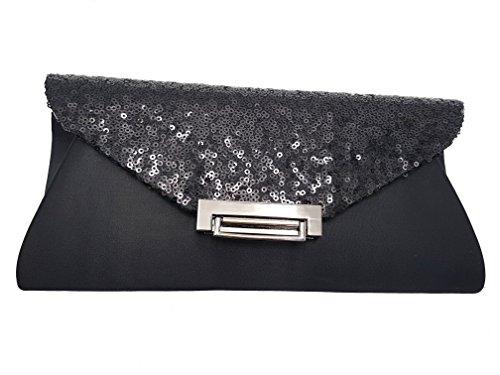 Piccoli Monelli , Damen Clutch Schwarz schwarz dimensioni borsa: 25*10cm