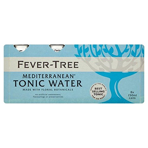 Fever-Tree Mediterranean Tonic Water Cans - 8 x 150ml
