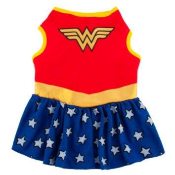 DC Comics Wonder Woman Dog Dress Costume SMALL (Wonder Woman Dog Costume)