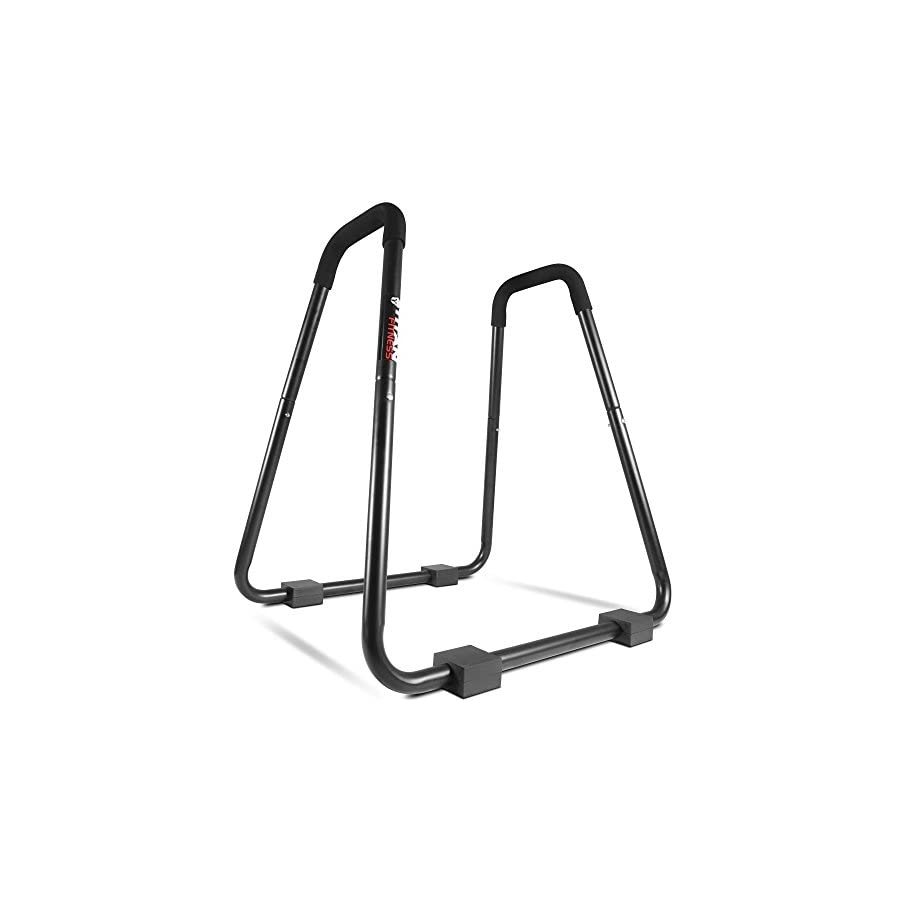 Titan Fitness HD Dip Station Stand Body Press Black Solid Foam Grips