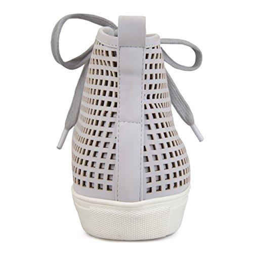 Brinley Co Baskets À Lacets En Cuir Synthétique À Lacets