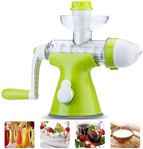 Persoonlijke Mixer Juicer, Manual Juicer, Original Slow Juicer for maximale voedingswaarde, Hand Juicer for alle groenten en fruit Home Licuadora