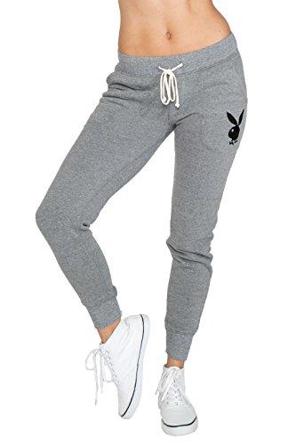 playboy-womens-playboy-jogger-pant-l-heather-grey