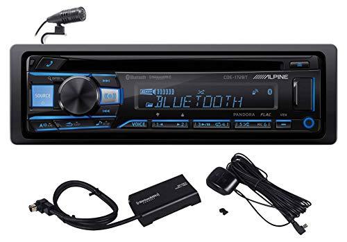 ALPINE CDE-172BT in-Dash Bluetooth CD Receiver Car Stereo USB/AUX+SiriusXM Tuner