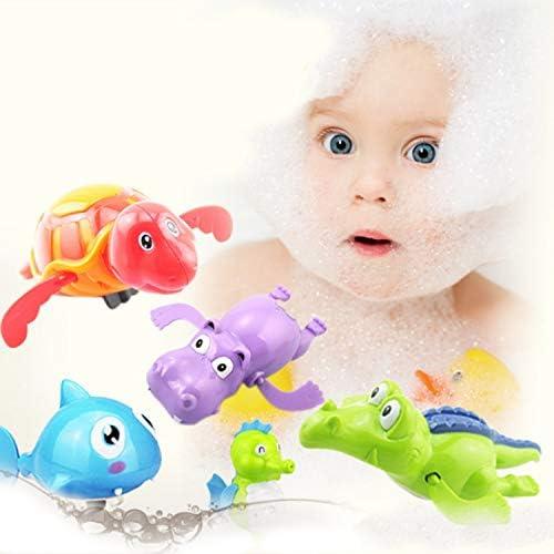 6 pcs Style Assorti Belle Bande Dessin/ée Wind-up Baignoire Flottante Bain Jouet M/écanique Jouets Aquatiques pour Tout-Petits Enfants Enfants