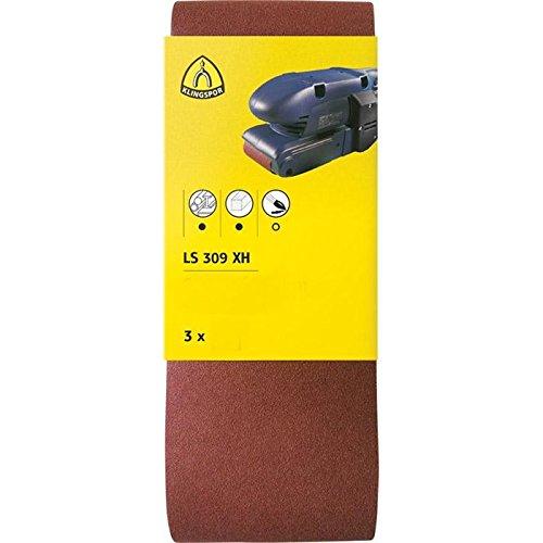 100 x 560 mm Brun Klingspor 7040 Set de 3 LS 309 XH Bande abrasive Grain 120