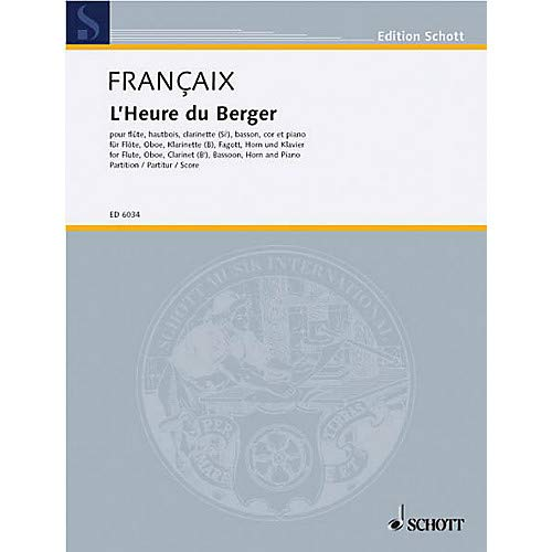 (L'Heure du berger (Score) Schott Series by Jean Fran aix Pack of 2)