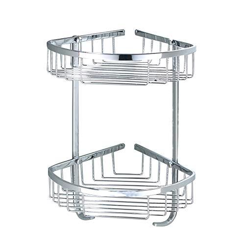 SUS 304 Stainless Steel Shower Caddy Basket Bathroom Corner 2-Tier Large Triangular Shower Basket Wall Mount Polished