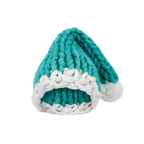 Elezay Christmas Warm Chunky Slouchy Knit Beanie Santa Hat (Green)